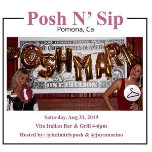 Join us for a Posh n Sip Pomona, CA 8/31/19 4 to 6